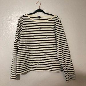 Black and White striped sweatshirt